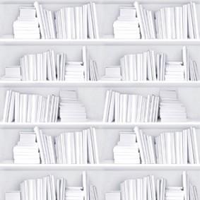 Bookshelf Wallpaper Samples White Bookshelf Wallpaper Textured Sample