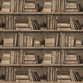Bookshelf Wallpaper Samples Sepia Bookshelf Wallpaper Sample