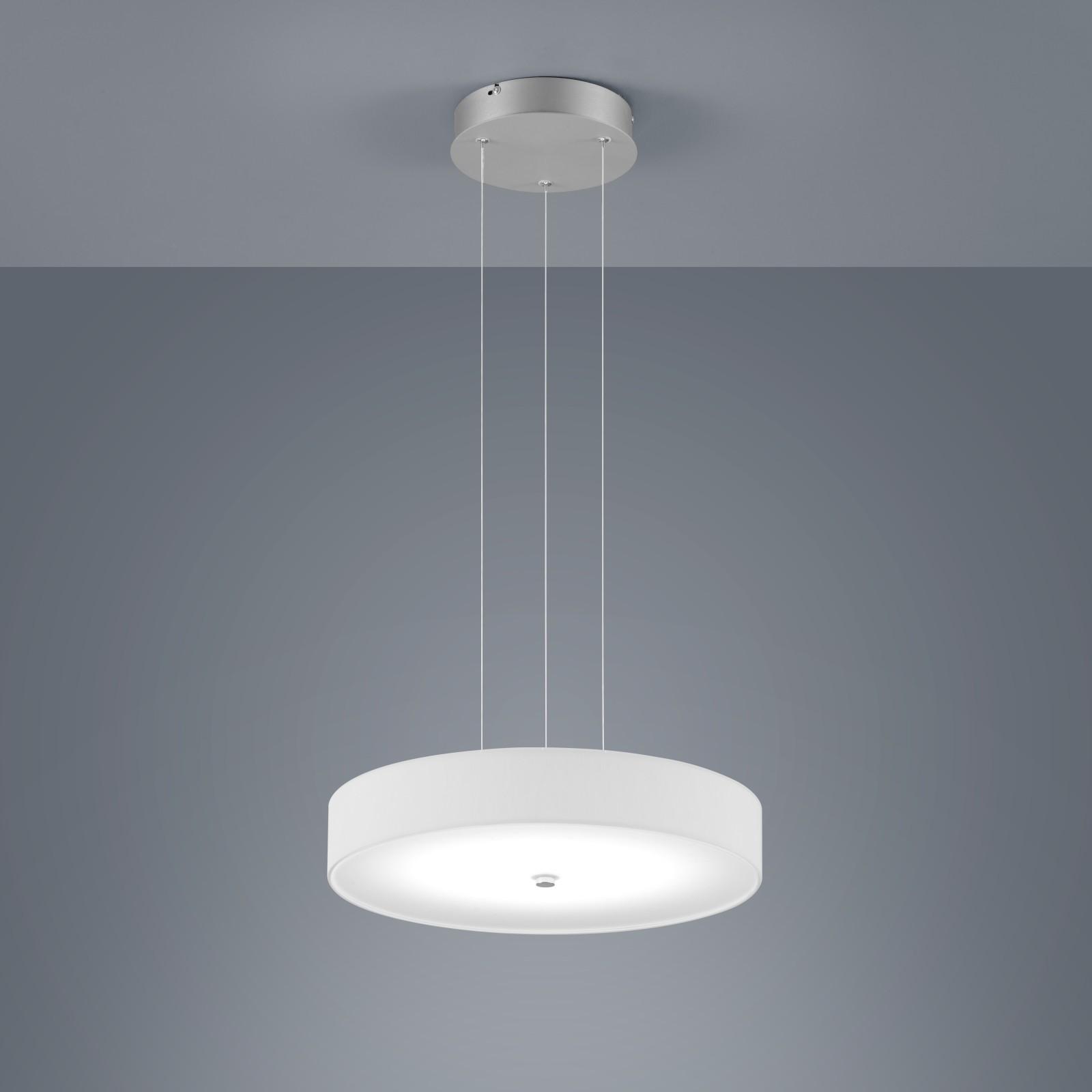 Bora Round Pendant Light White