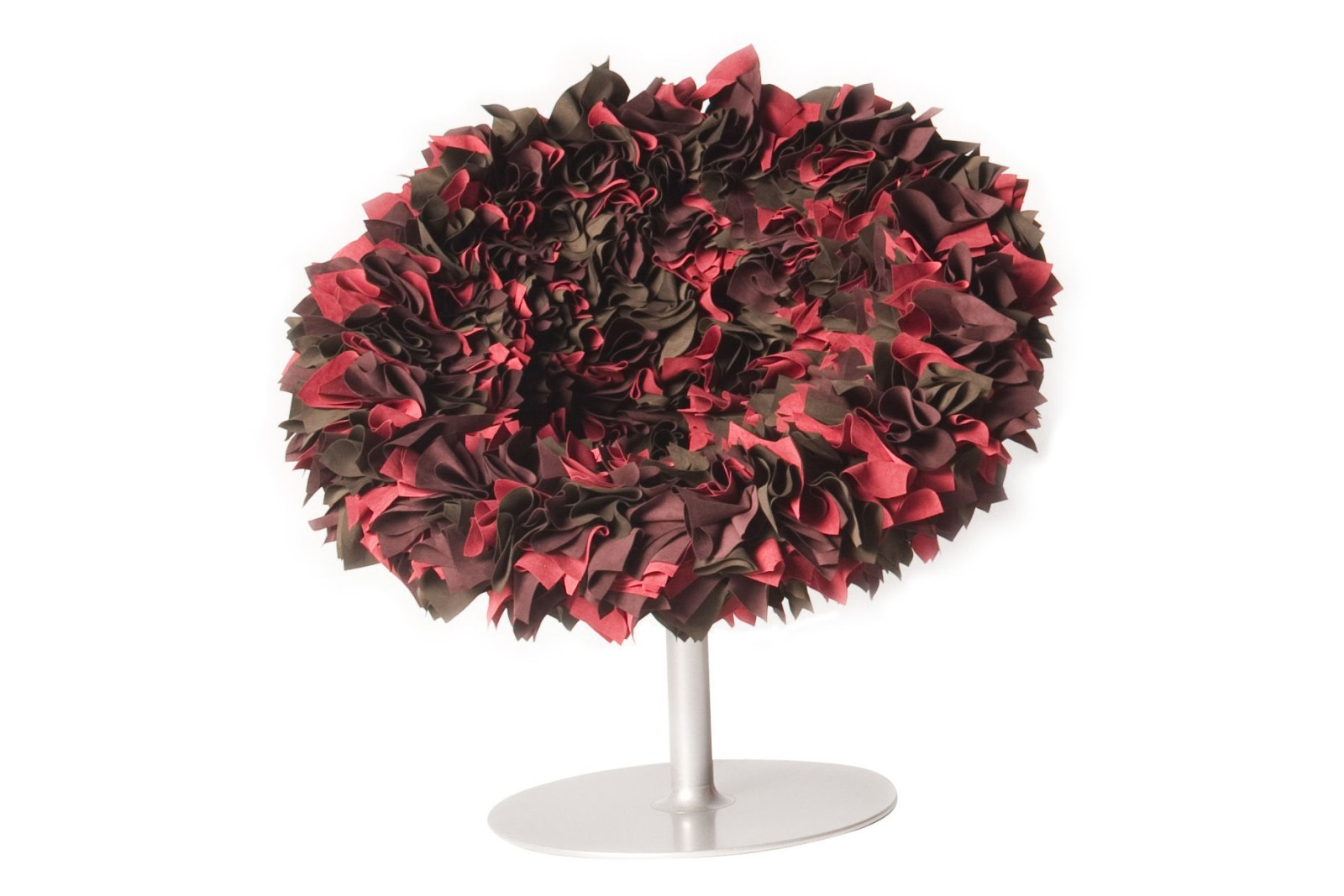 Bouquet Armchair B001 Red, Cyclamen and Maroon