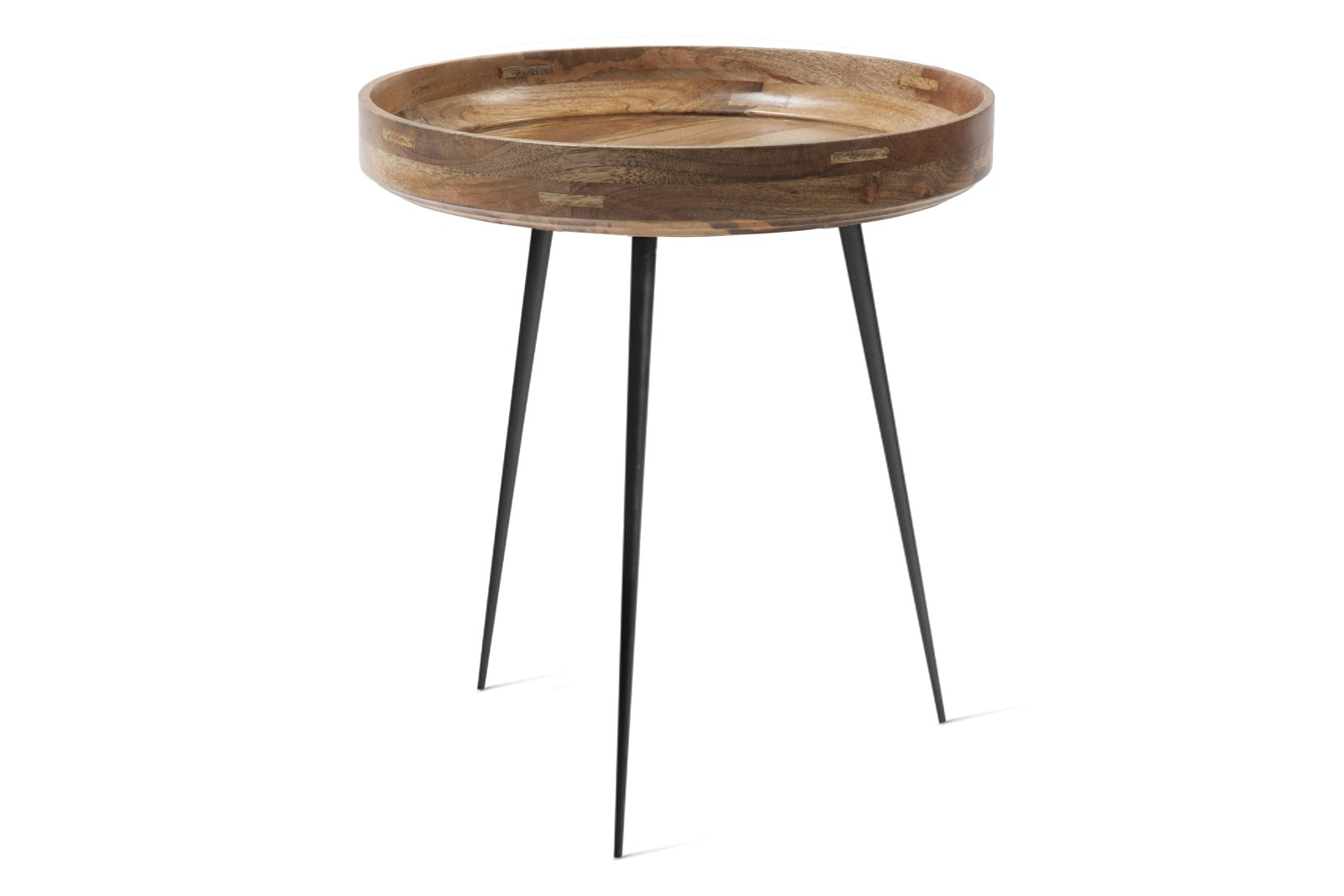 Bowl Table Natural Lacquered Mango Wood, 46cm