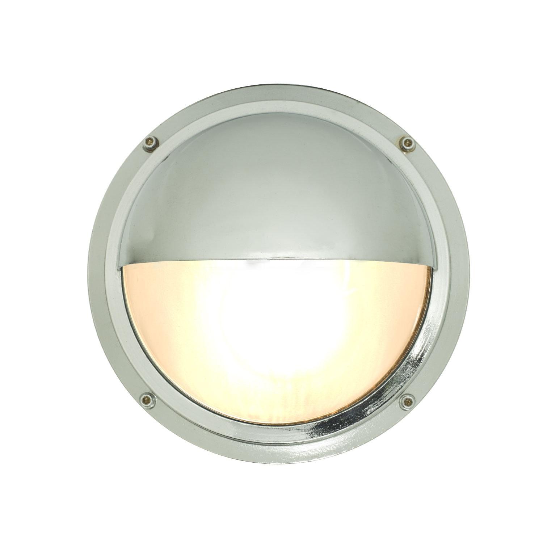 Brass Bulkhead with Eyelid Shield 7225 Chrome Plated, Standard E27