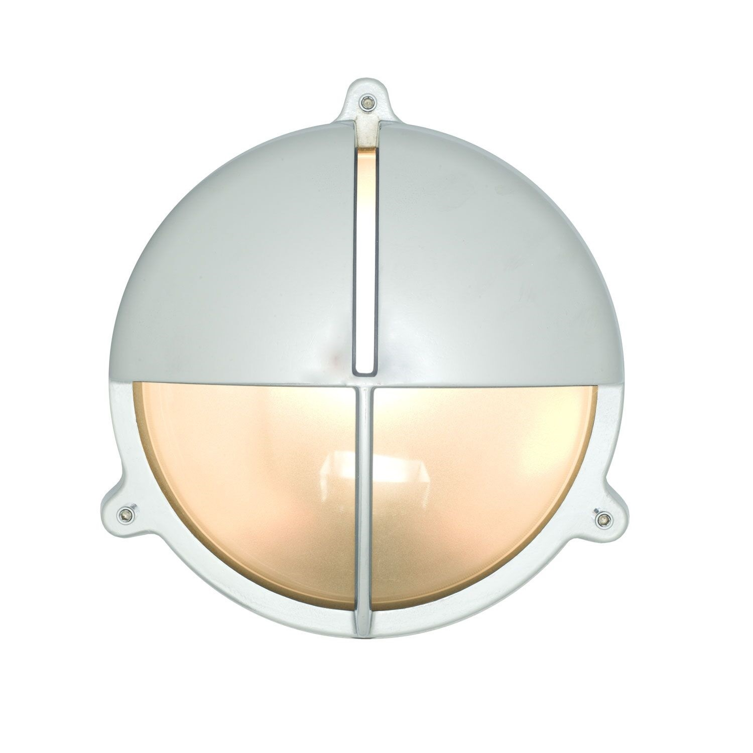 Brass Bulkhead With Eyelid Shield Chrome Plated, 22.6cm