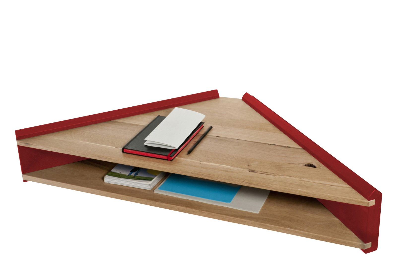 Briccola-ge Desk Shelf Red Side