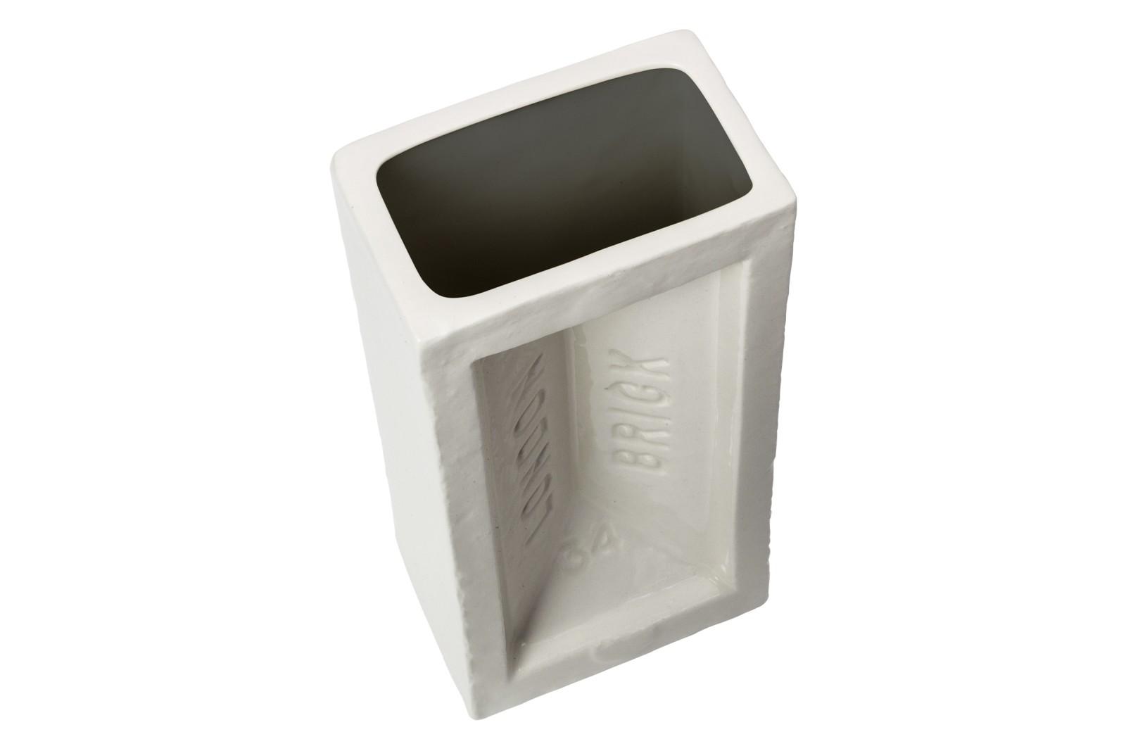 Brick Vase Dark Grey