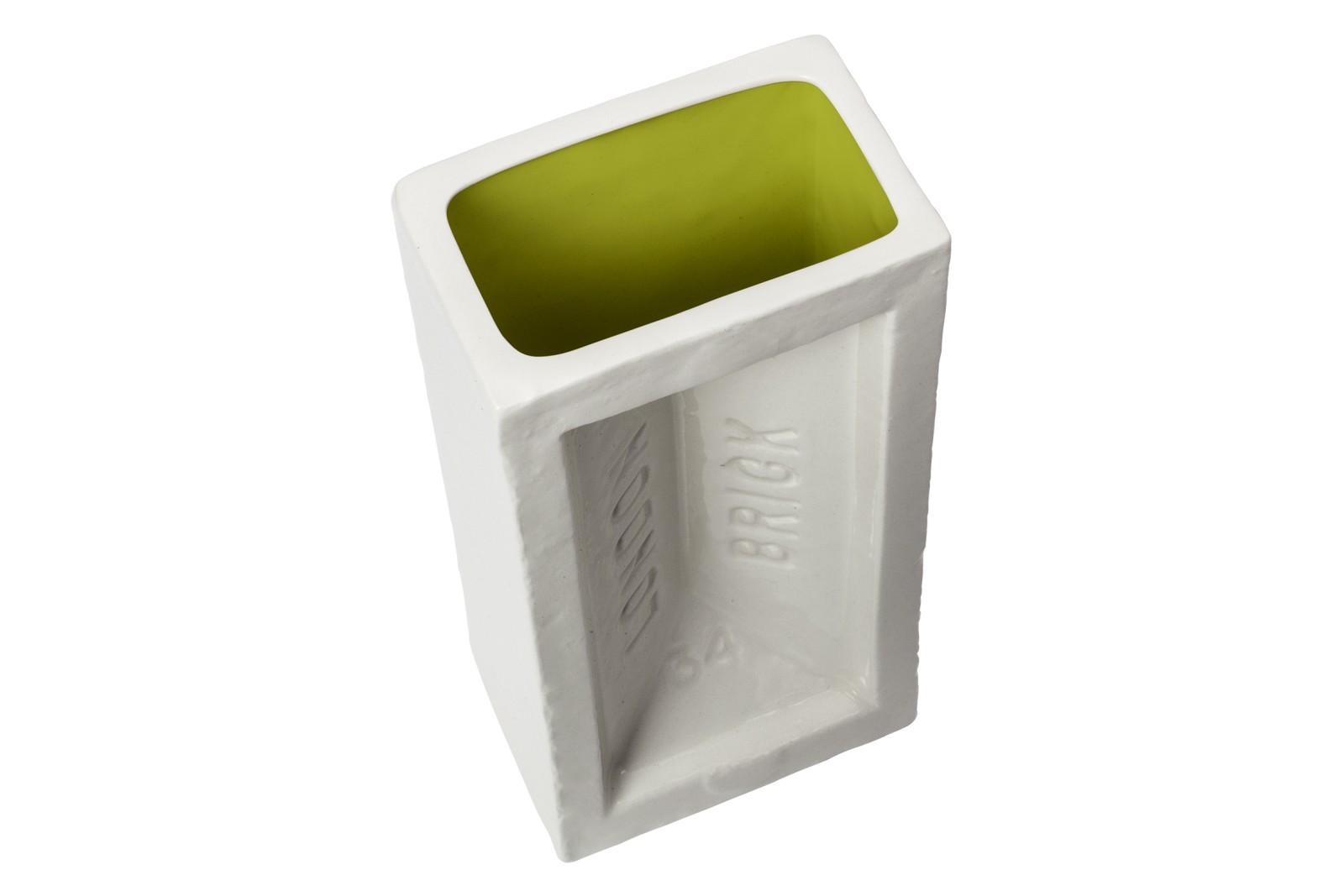 Brick Vase Green