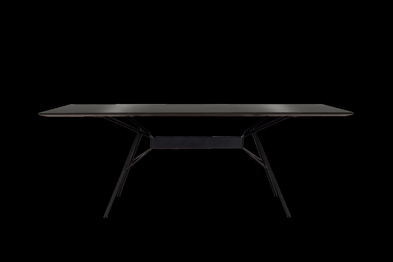 Bridge Dining Table - Rectangular Jet Black