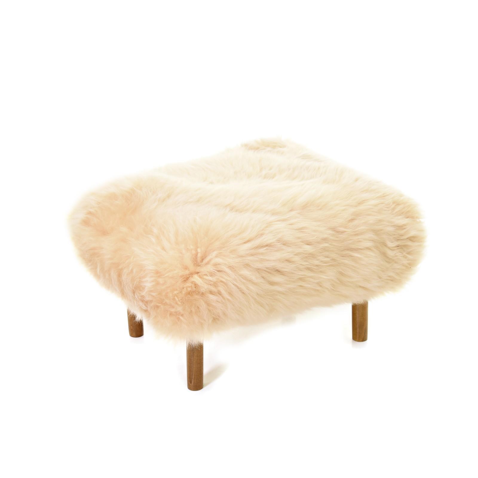 Bronwen Sheepskin Footstool Buttermilk