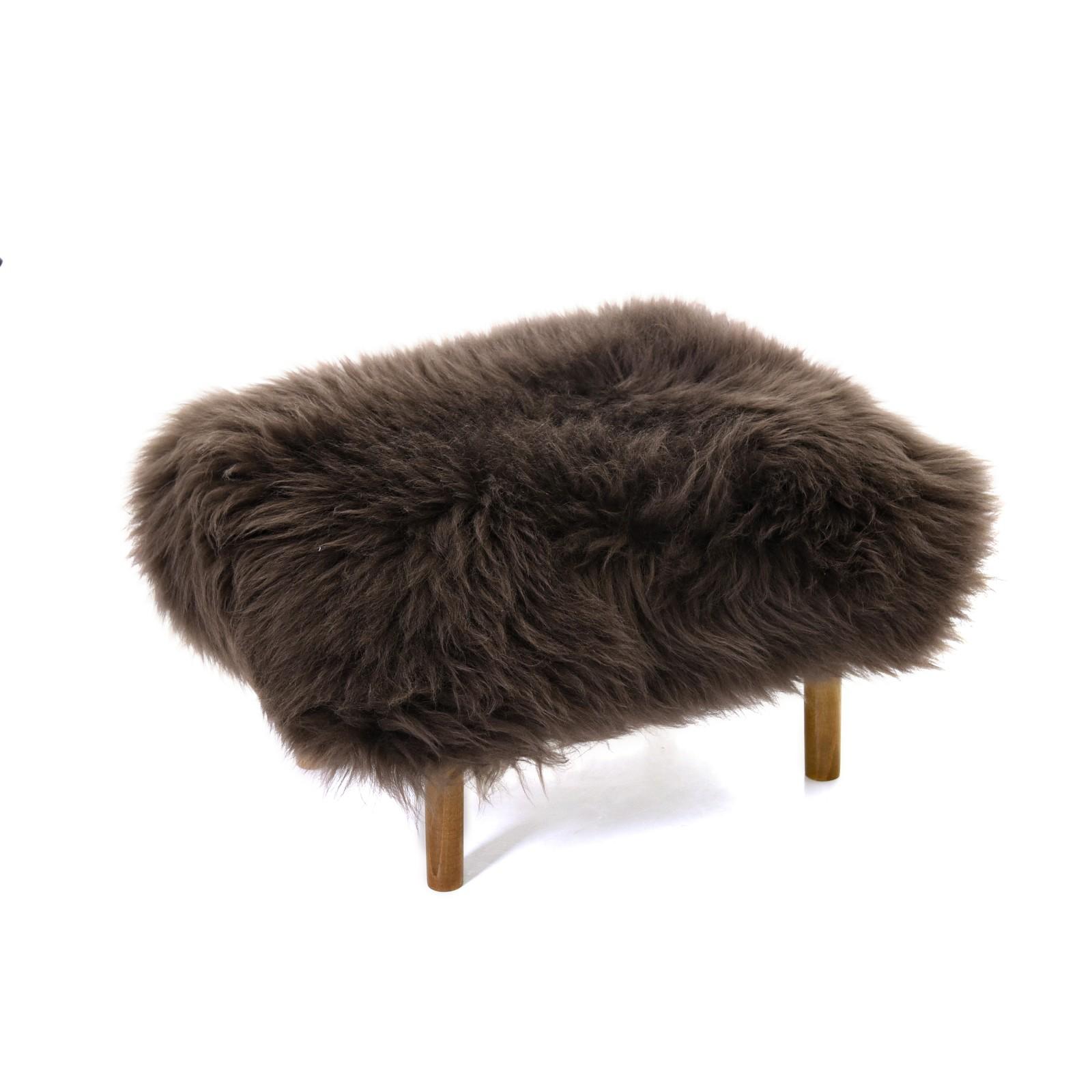 Bronwen Sheepskin Footstool Mink