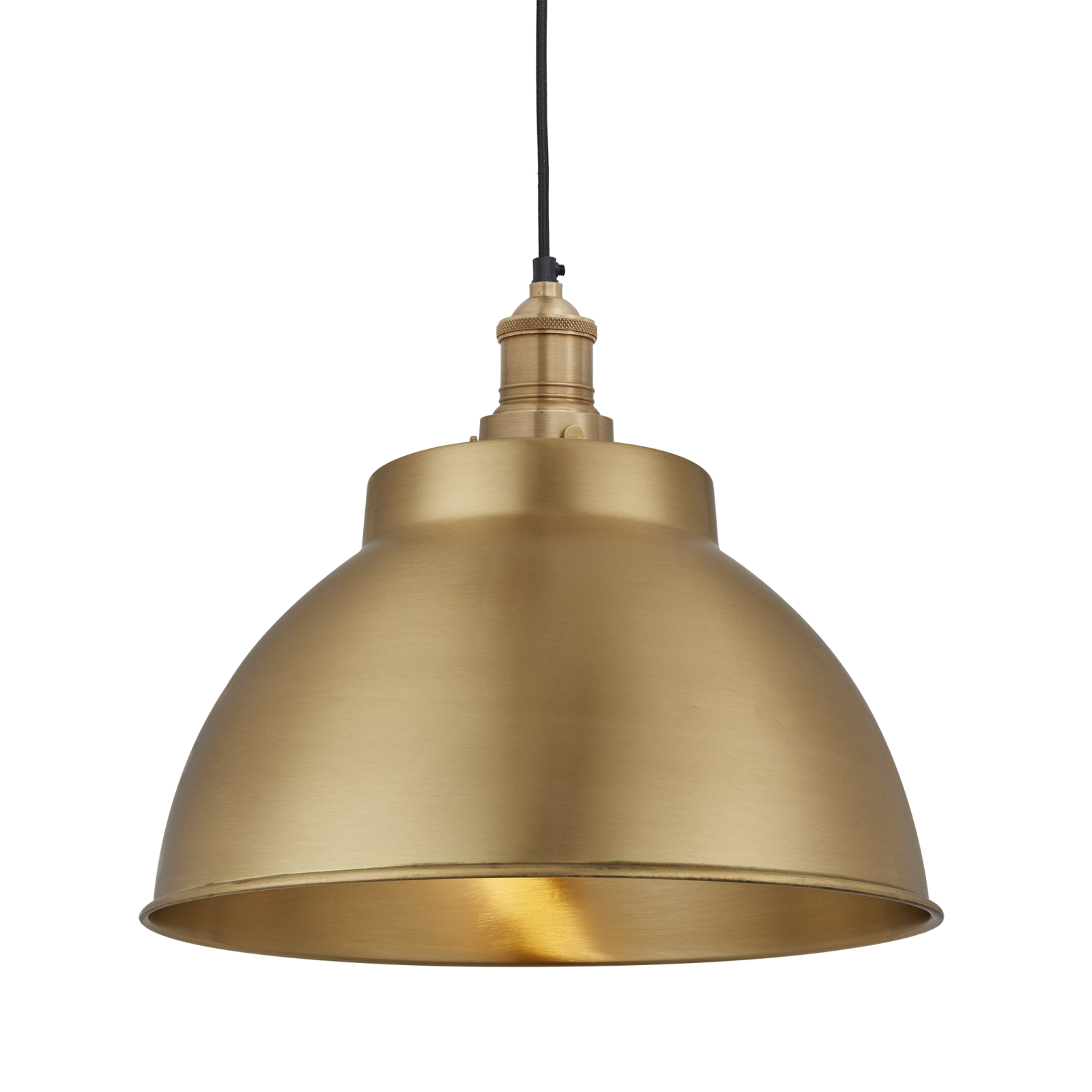 Brooklyn Dome Pendant Light - 13 Inch Brooklyn Dome Pendant - 13 Inch - Brass - Brass Holder
