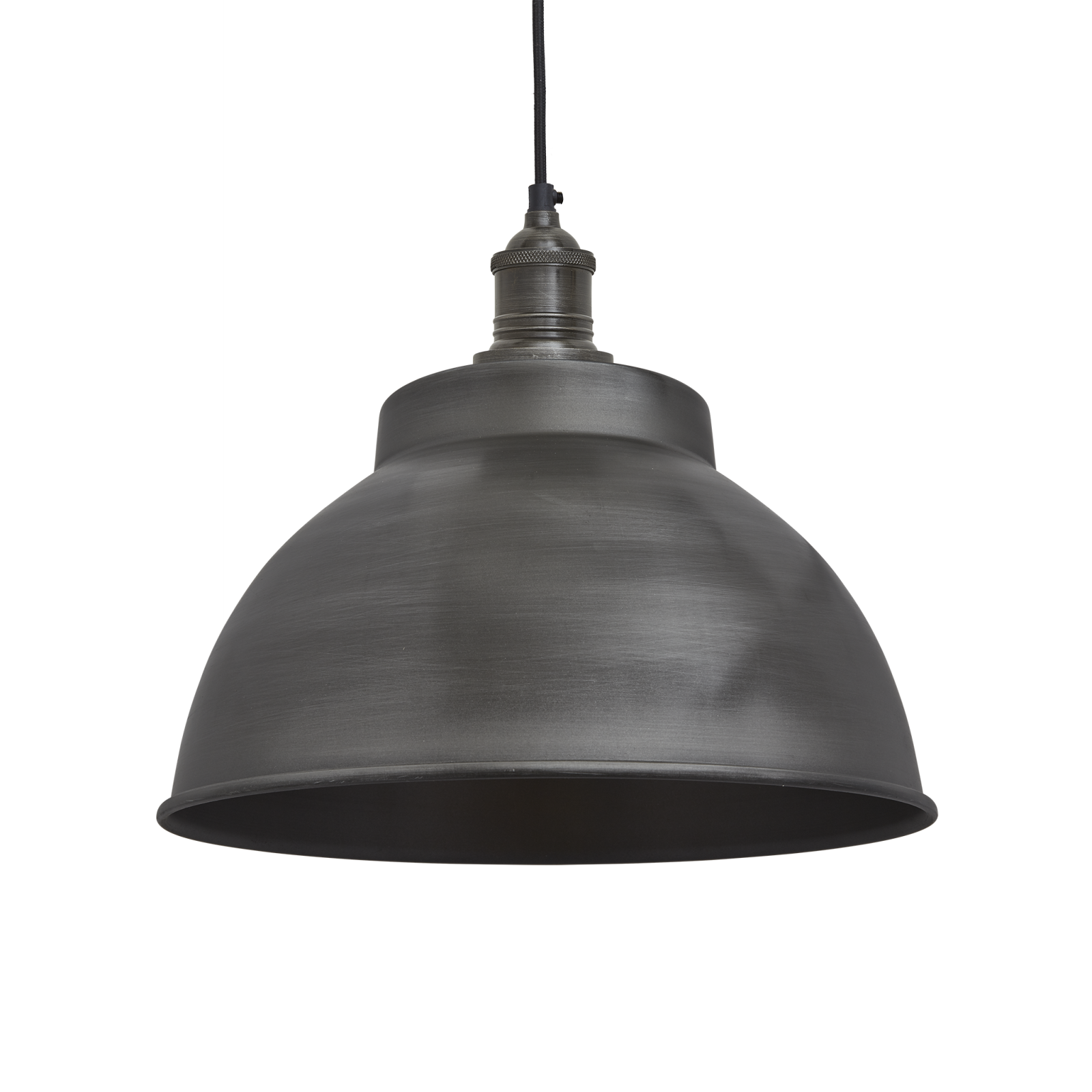 Brooklyn Dome Pendant Light - 13 Inch Brooklyn Dome Pendant - 13 Inch - Pewter - Pewter Holder