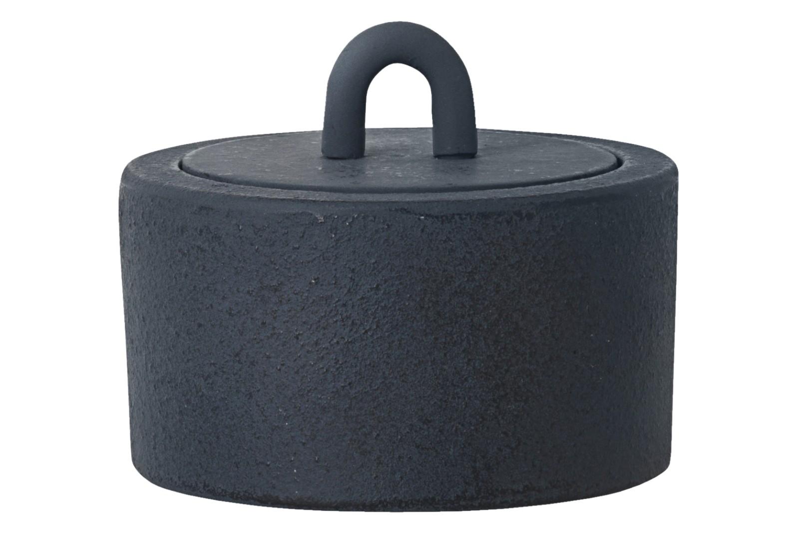 Buckle Jar - Set of 4 Dark Blue