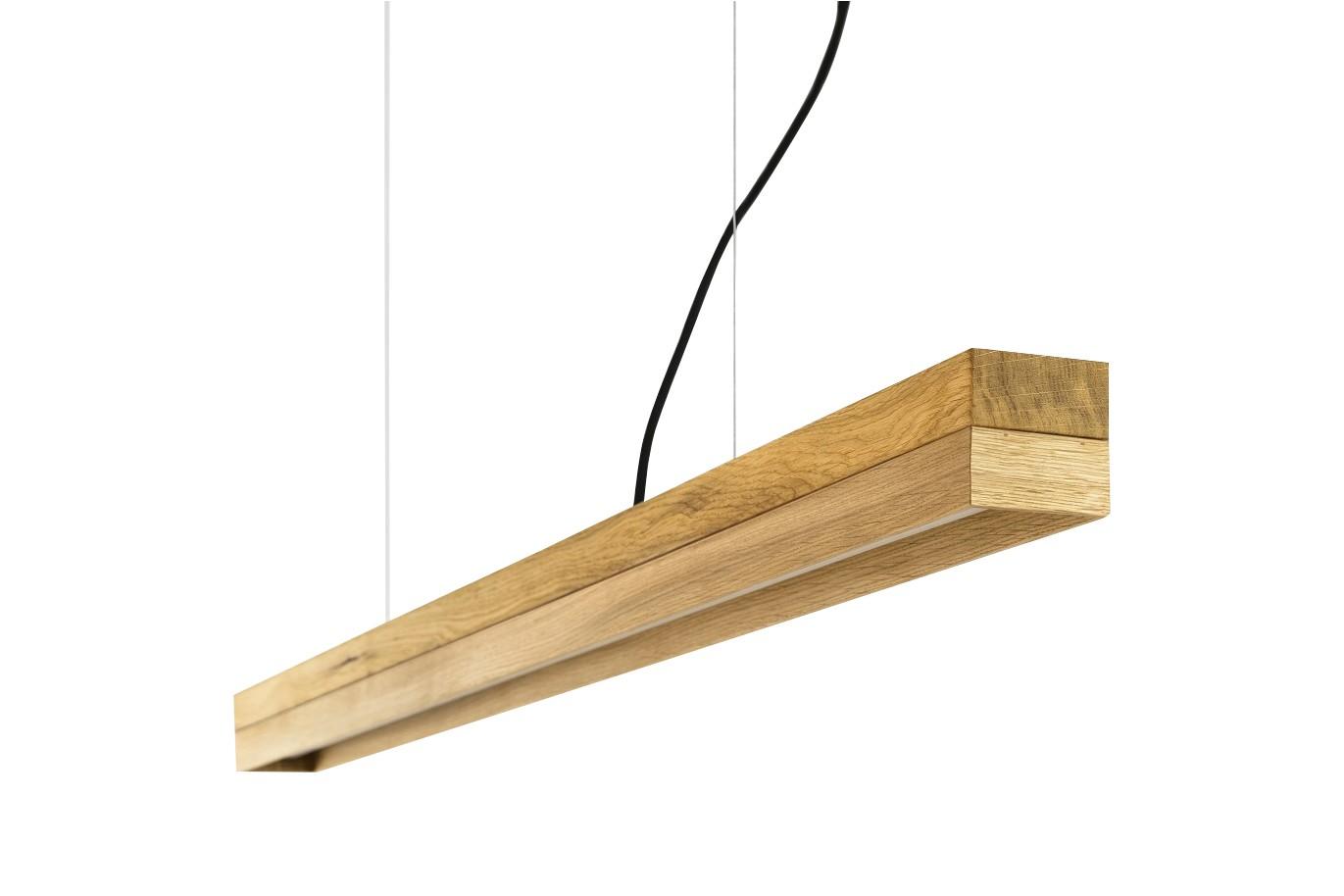 [C] Oak Wood & Oak Pendant Light (92cm or 122cm) 4000k, [C1o] - 122cm
