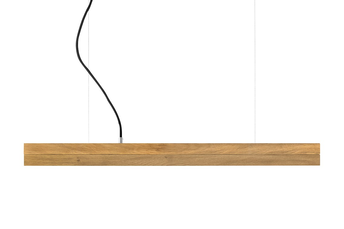 [C] Oak Wood & Oak Pendant Light (92cm or 122cm) 2700k, [C2o] - 92cm
