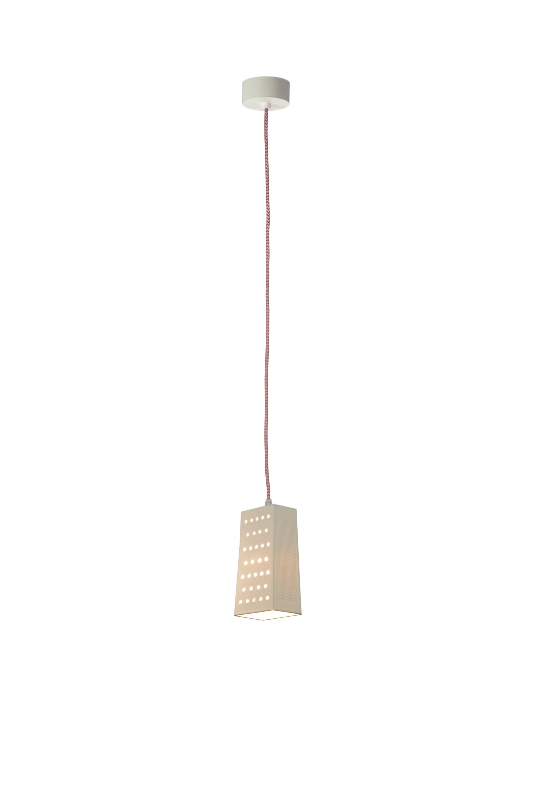 Cacio and Pepe S Pendant Light White, White and Red