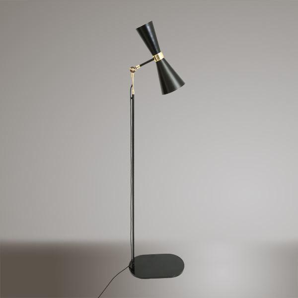 Cairo Contemporary Floor Lamp Powder Coated Black