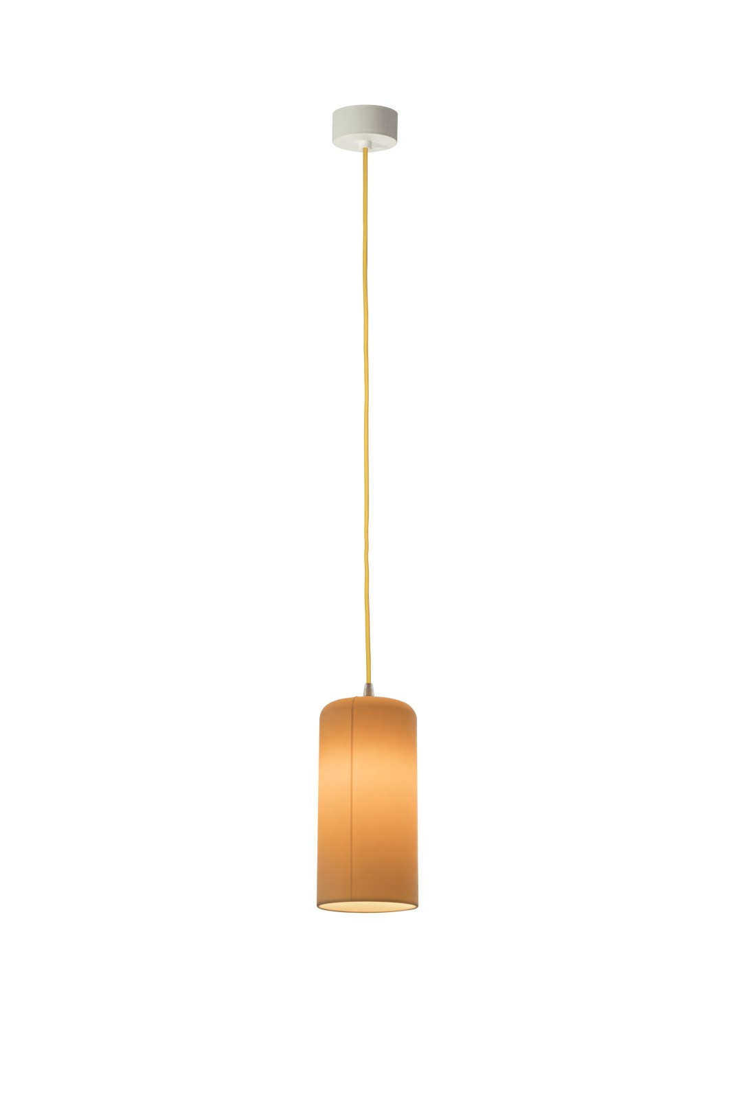 Candle 1 Pendant Light Neutral, Yellow