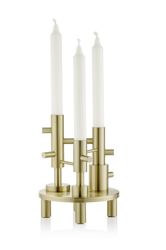 Candleholder Large - set of 2 Solid Brass