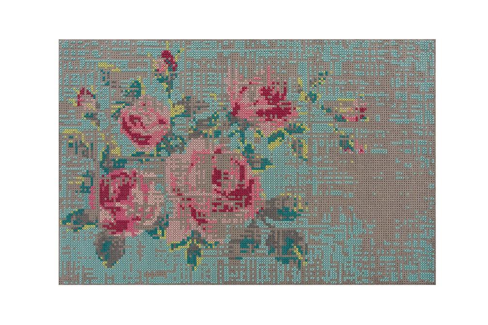 Canevas Flowers Rug Color, 200x300 cm
