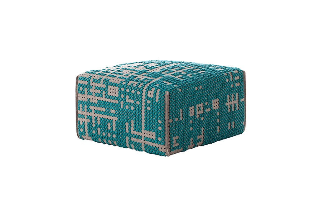 Canevas Square Abstract Ottoman Green