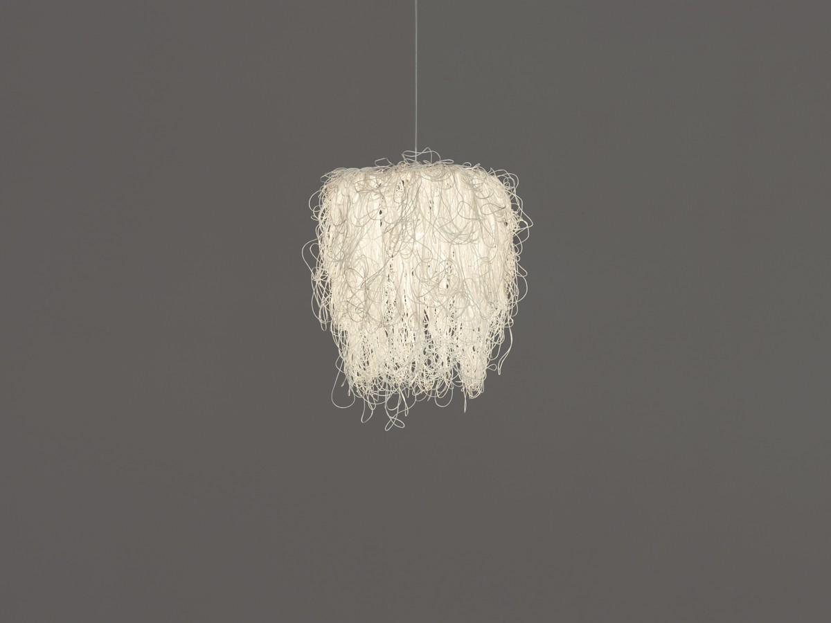 Caos Pendant Lamp Beige, Transparent Cable, No, Small