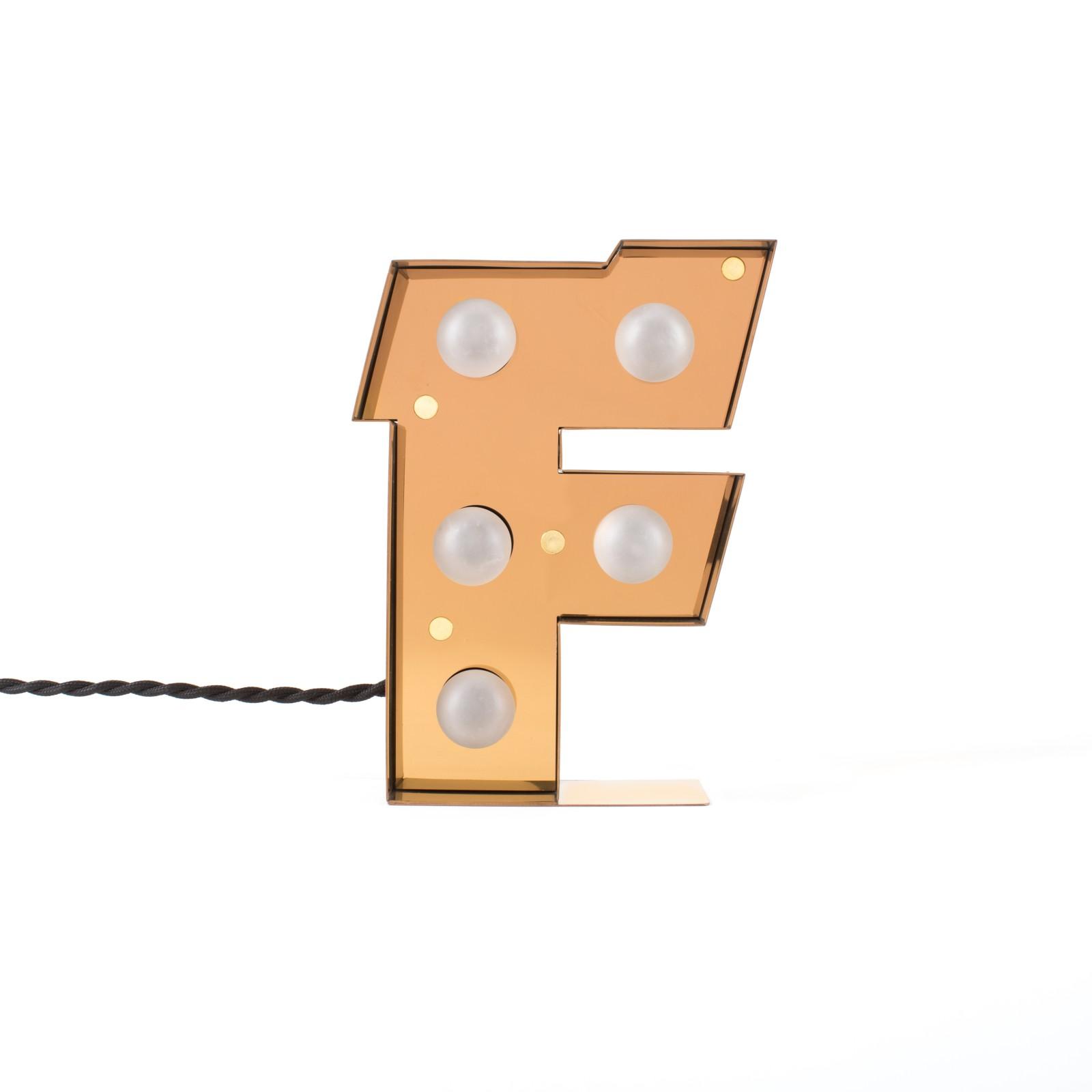 Caractère Alphabet Lamp F