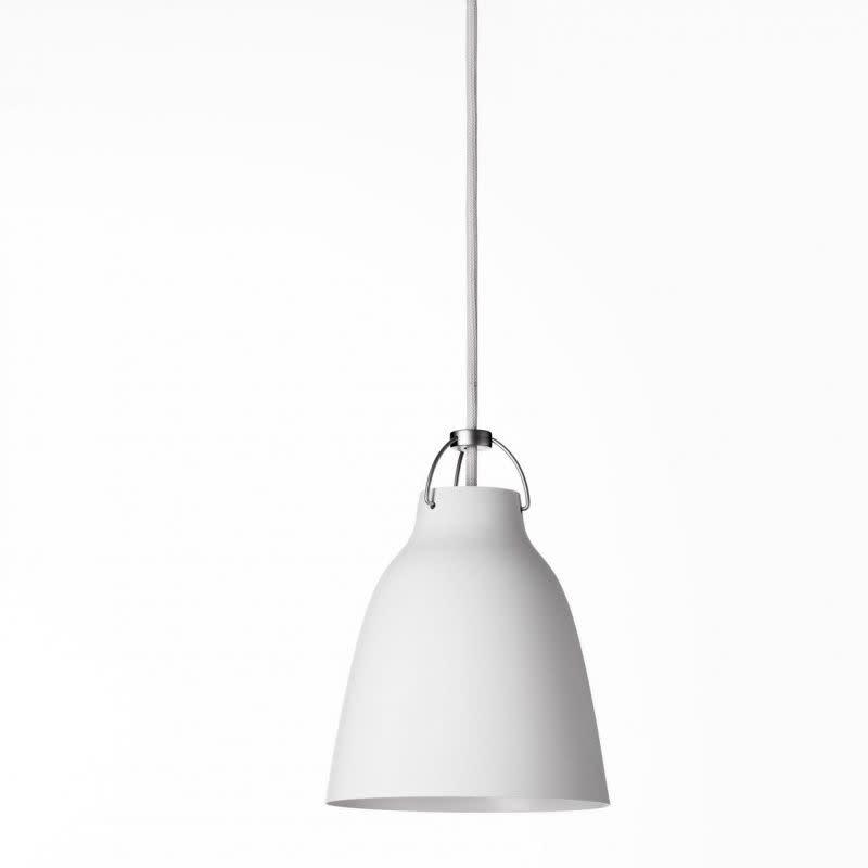 Caravaggio Matt Pendant Light P1 Small, White, 3 m cord
