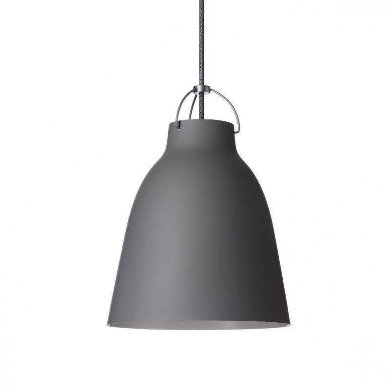 Caravaggio Matt Pendant Light P2 Medium, Dark grey, 3 m cord