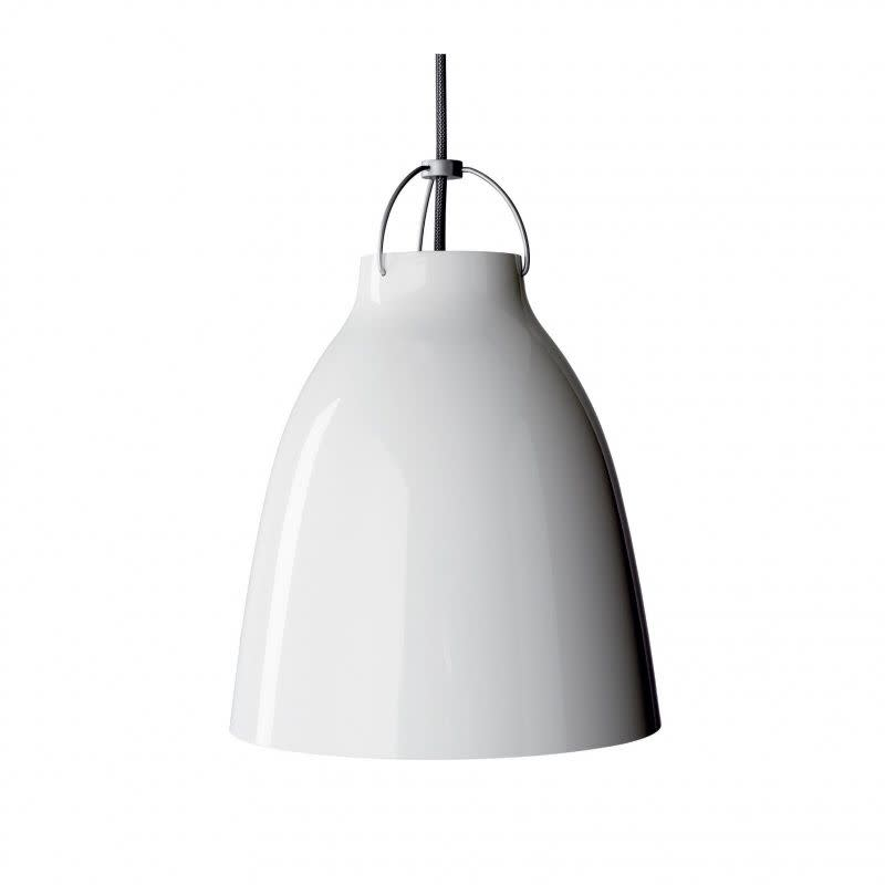 Caravaggio Pendant Light White, P1 Medium, 3 m cord