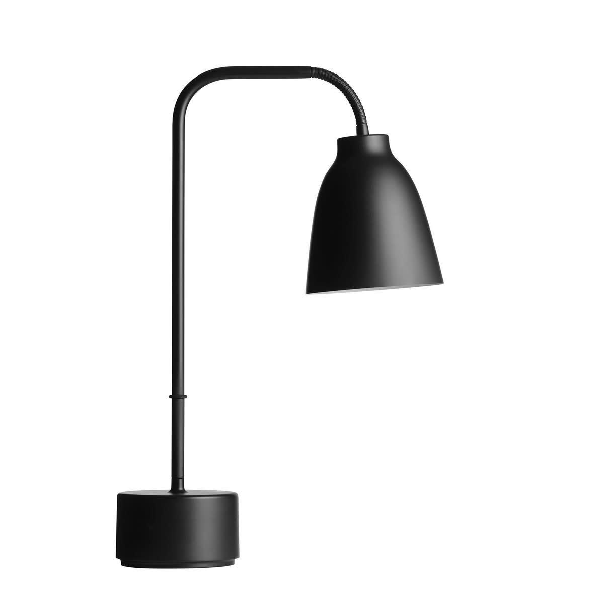 Caravaggio Read Table Lamp Black