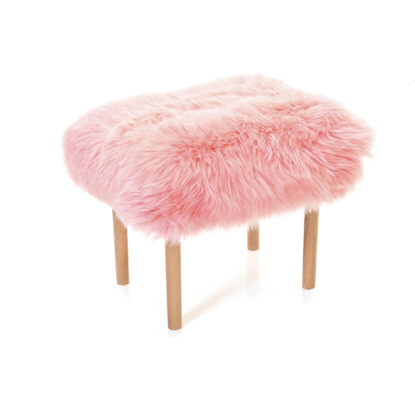 Carys Sheepskin Footstool Pink