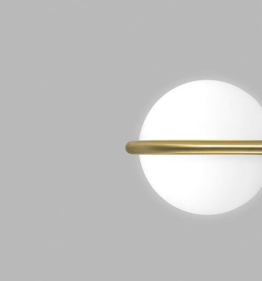 C Ball Wall Light Matte Brass