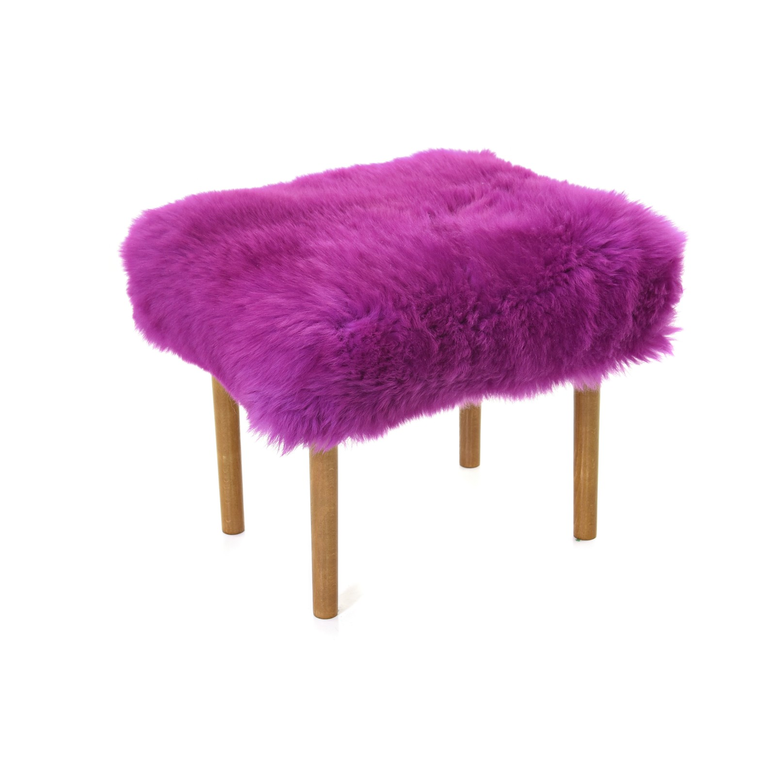 Ceri Sheepskin Footstool Cerise