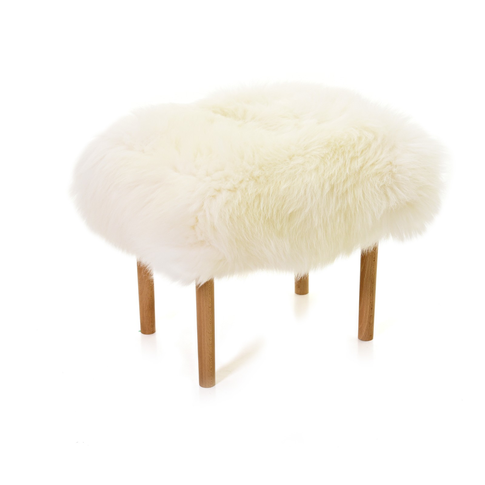 Ceri Sheepskin Footstool Ivory