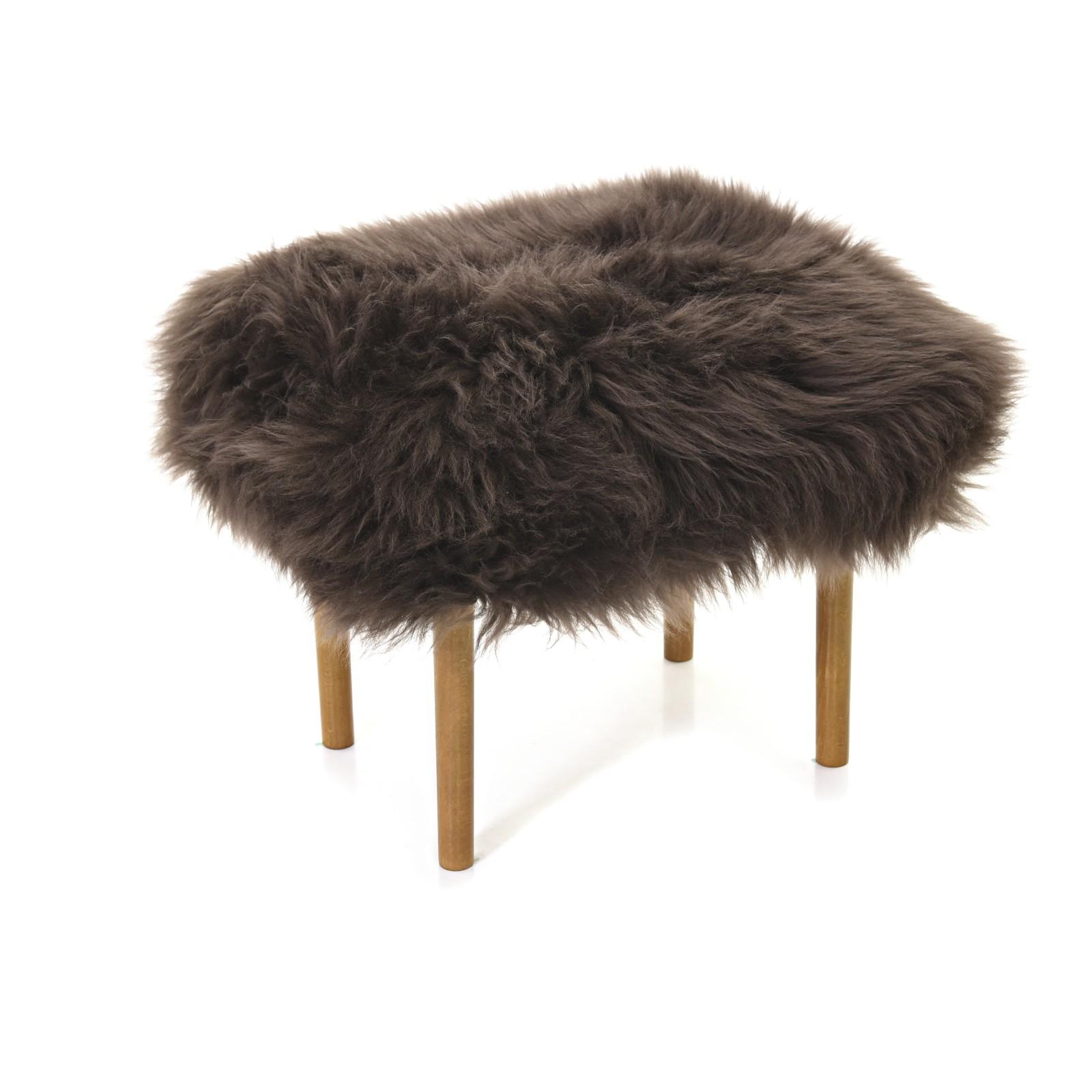 Ceri Sheepskin Footstool Mink