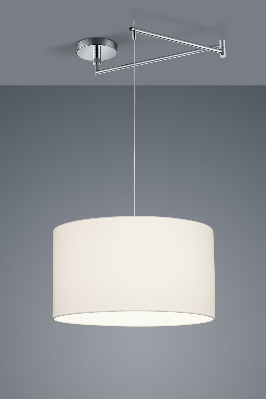 Certo One-Light Cylinder Pendant Light White