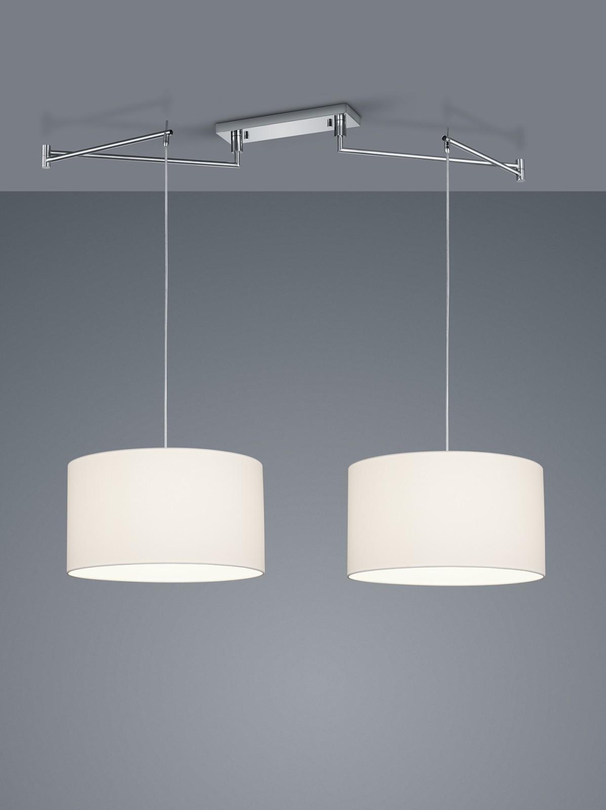 Certo Two-Leaf Cylinder Pendant Light White