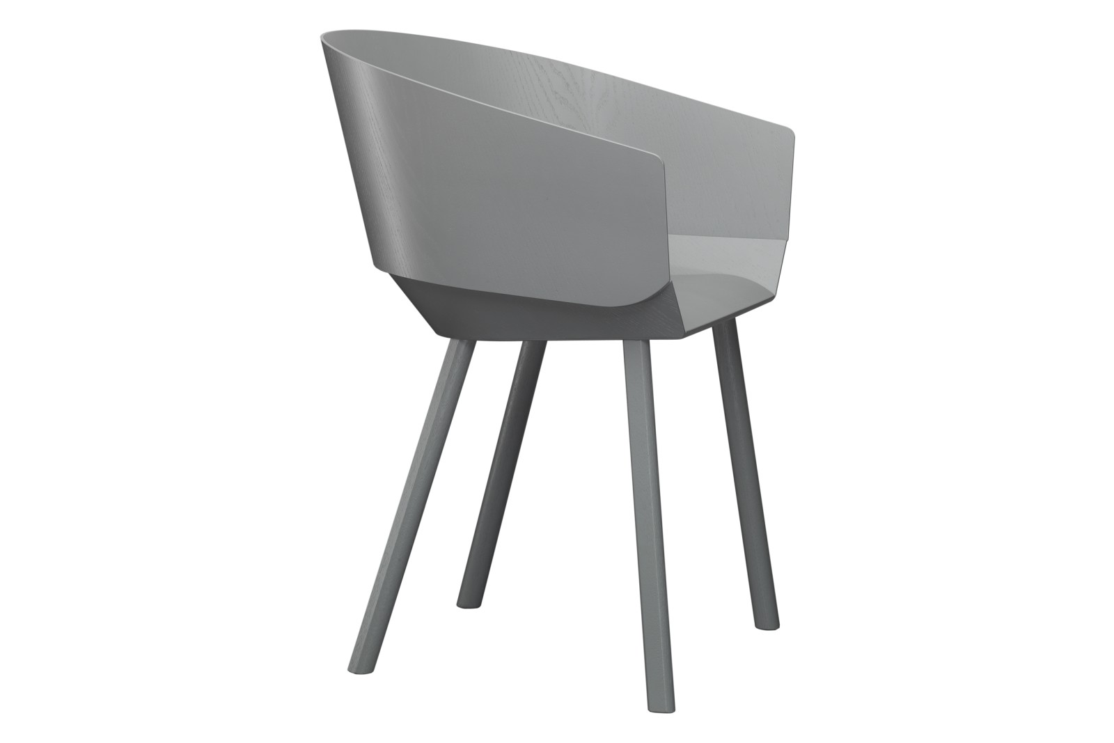 CH04 Houdini Dining Chair with Armrests Traffic Grey