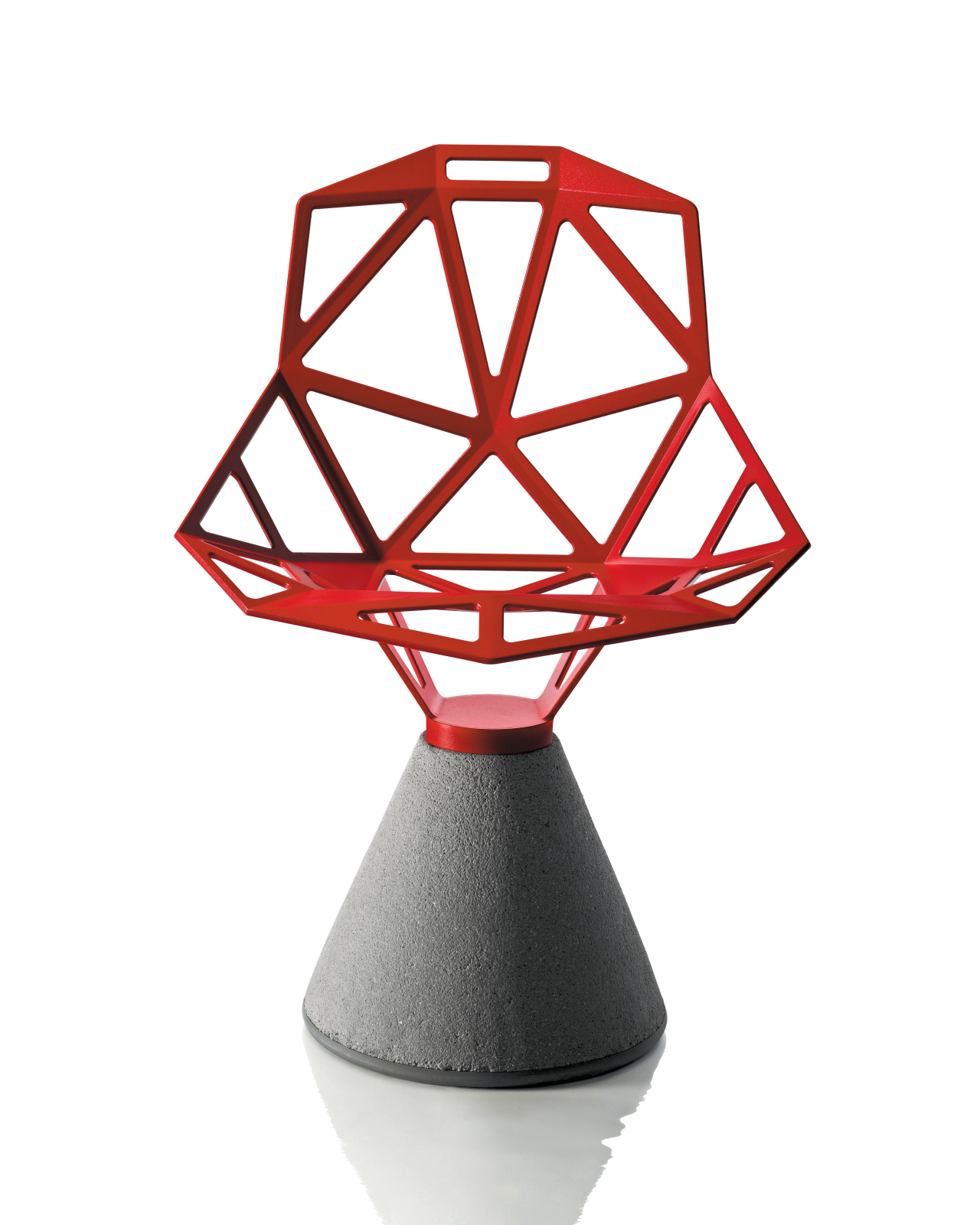 Chair One With Concrete Base Red