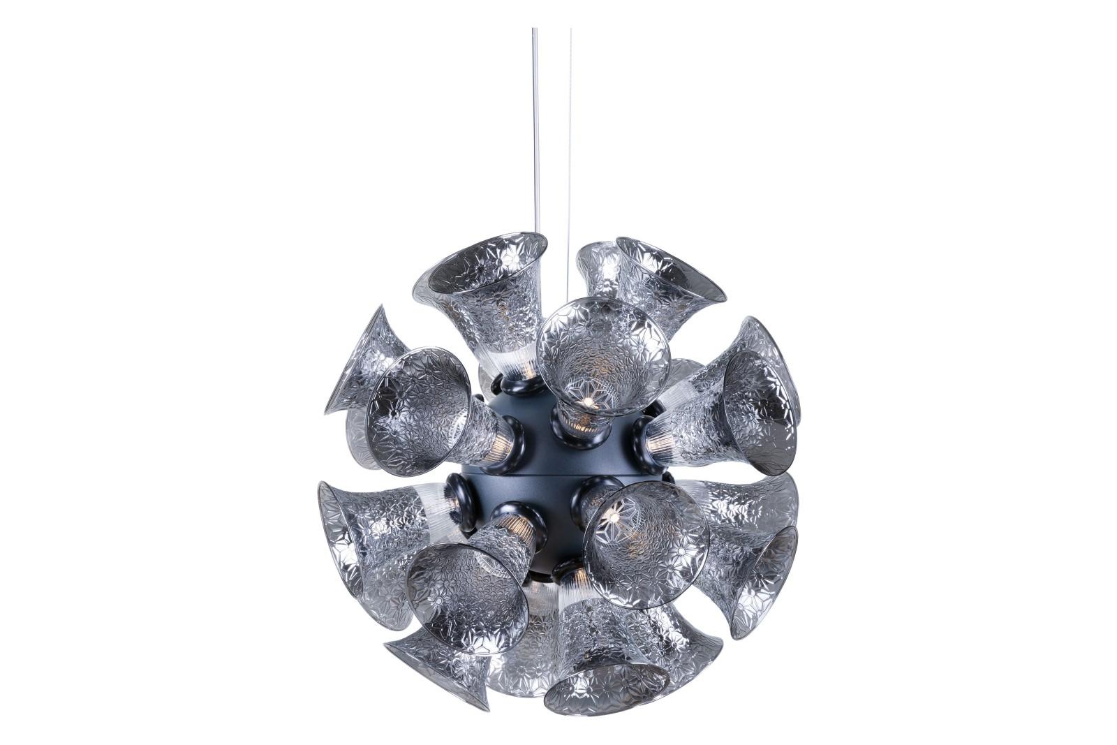 Chalice Pendant Light Metallic Grey, Small, 4 m