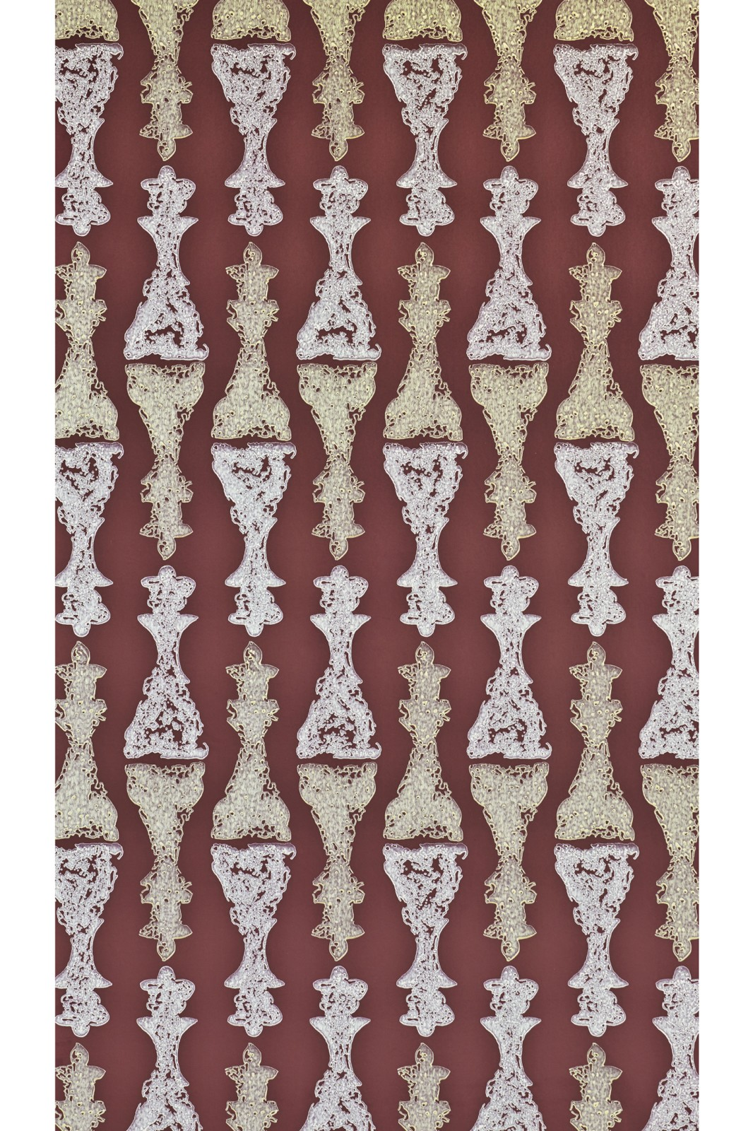 Chess Wallpaper Burgundy