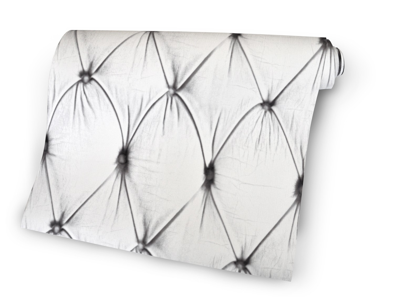 Chesterfield Wallpaper Standard Roll, White