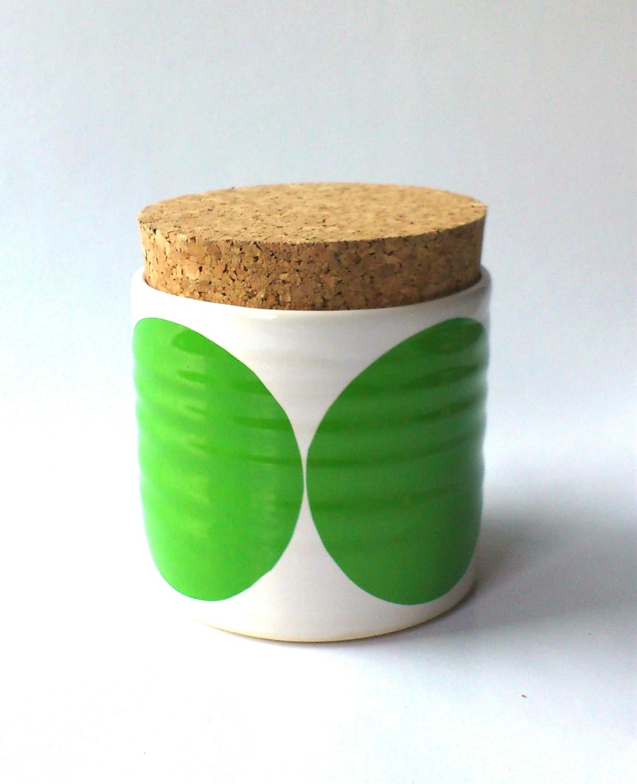 Circles Sugar Jar Green