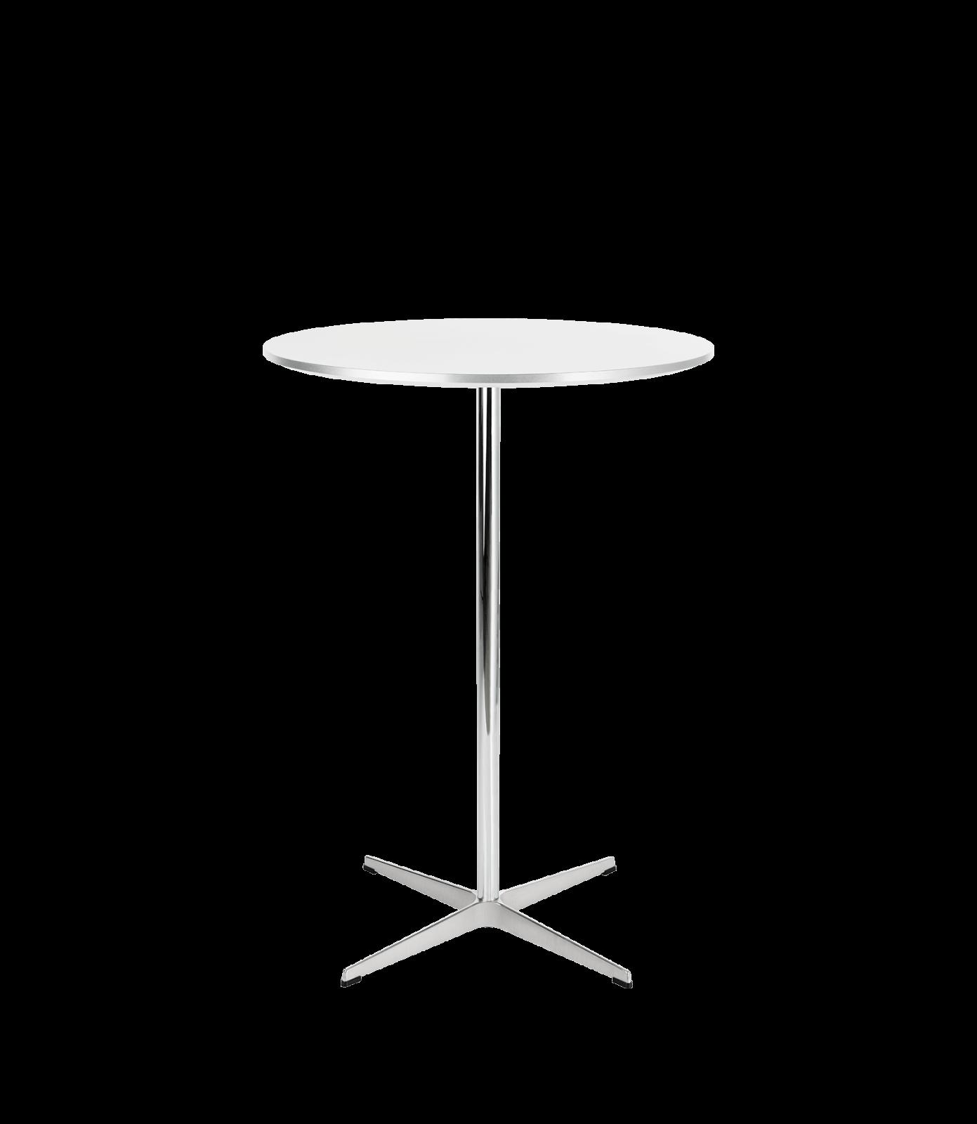 Circular Bar Table Laminate Standard Colour White