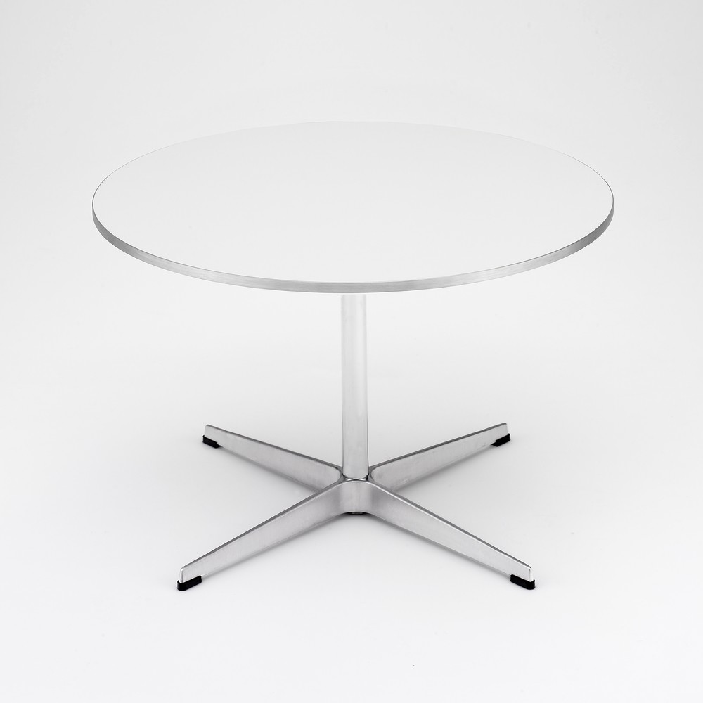 Circular Coffee Table Laminate White, 47/75