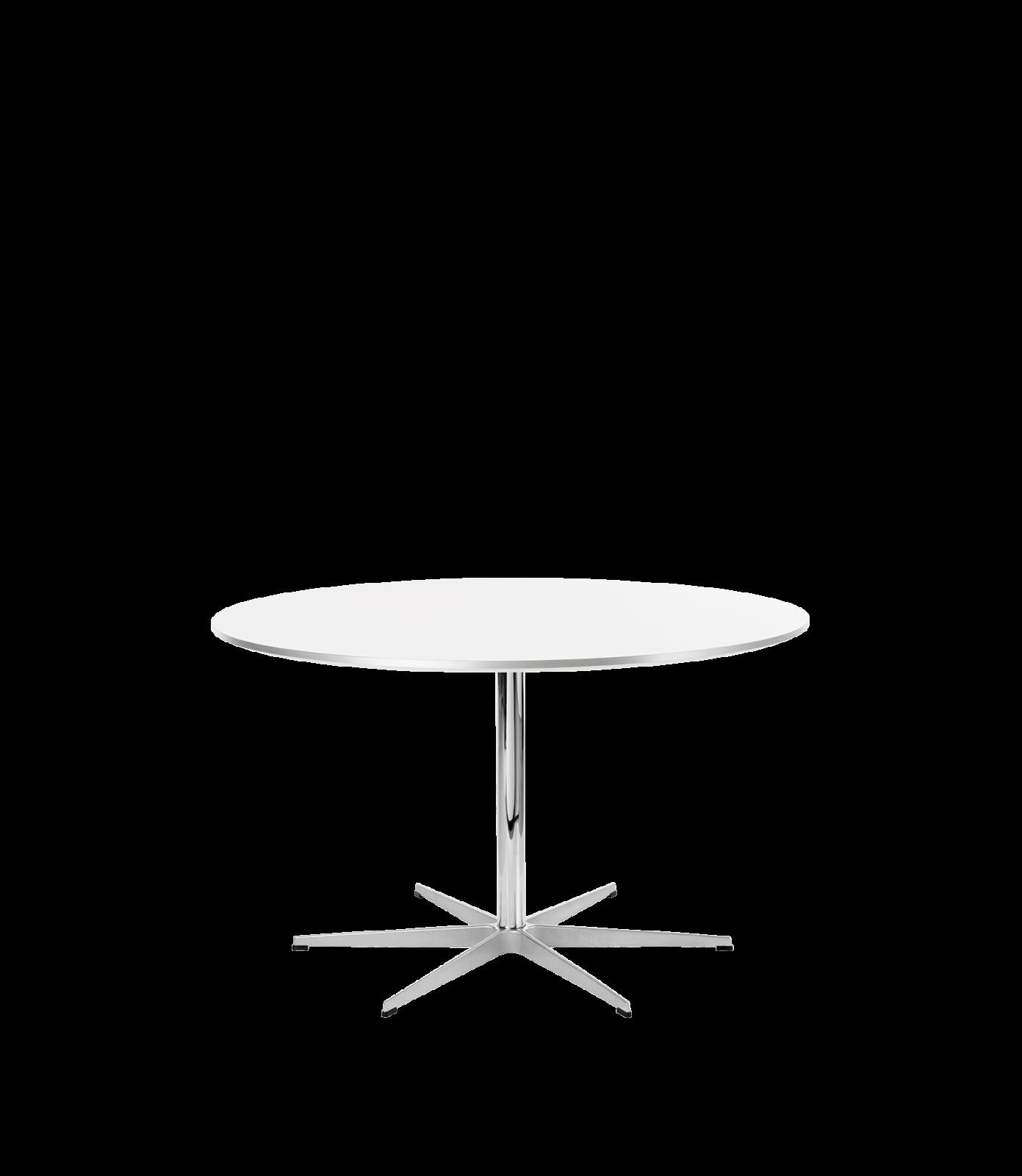 Circular Dining Table - 6-star base Laminate Standard Colour White