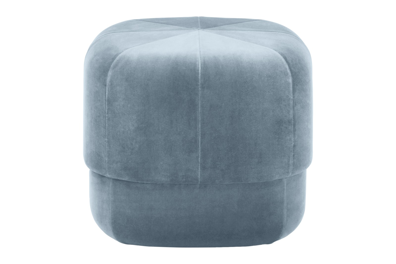 Circus Pouf Velour Light Blue, Small