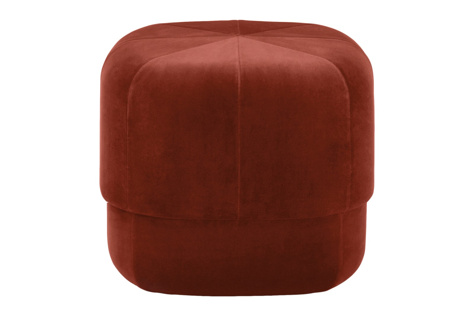Circus Pouf Velour Rust, Small