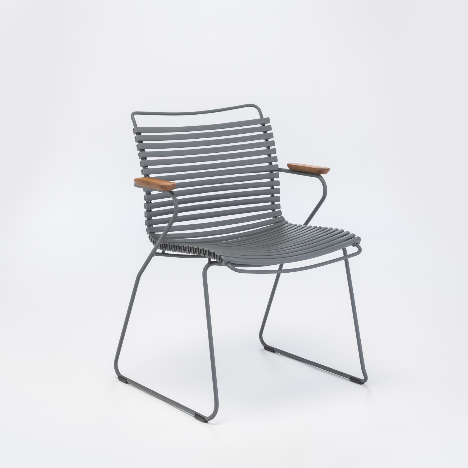 Click Dining Chair With Armrests Dark Grey