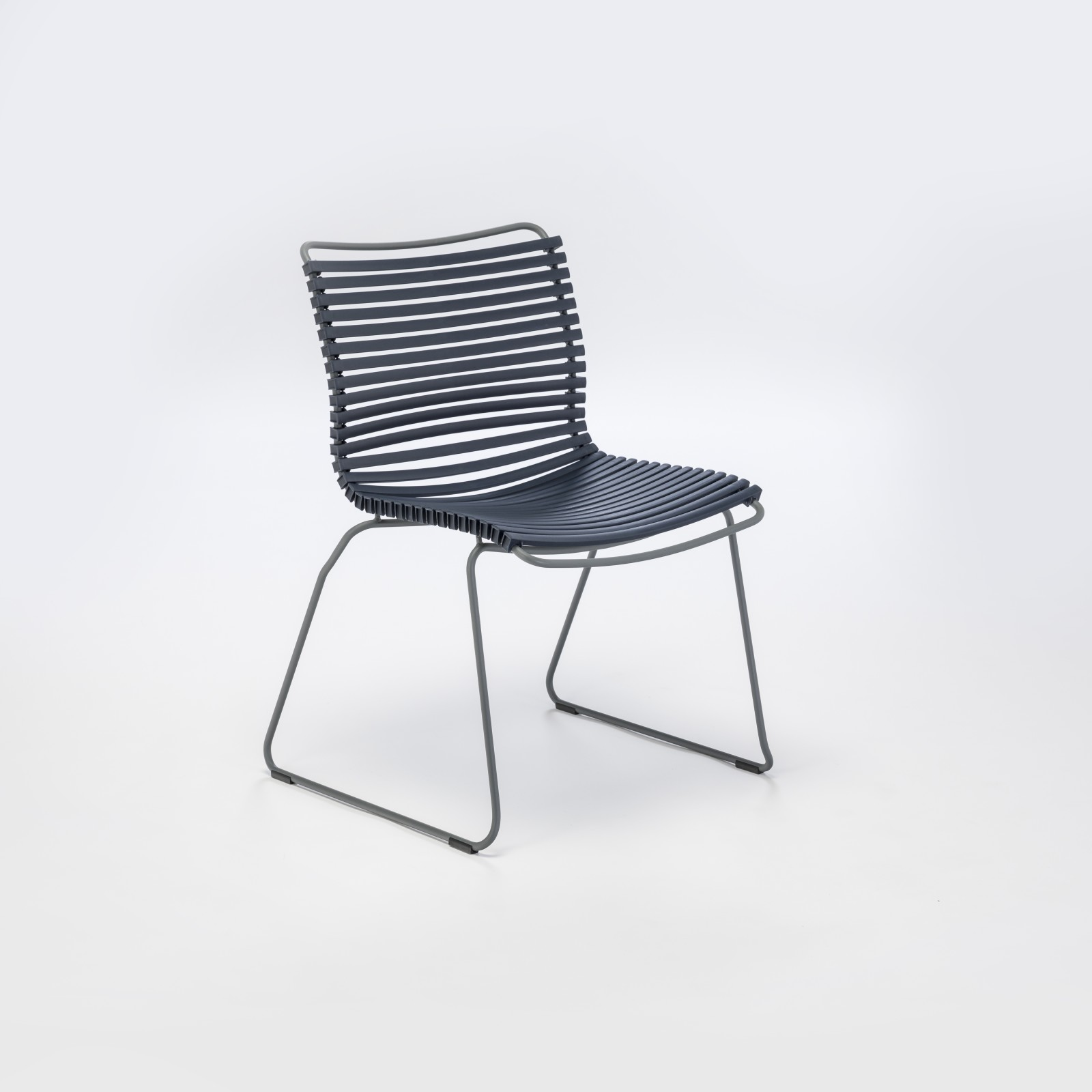 Click Dining Chair Without Armrests Dark Blue